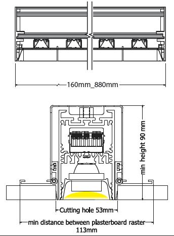 Sirus trimless diagram