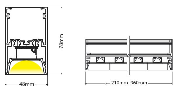 Vega ceiling mounted diagram