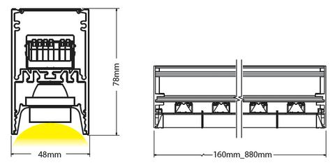 Sirus ceiling mounted diagram