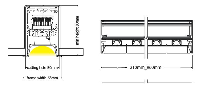 Vega recessed diagram