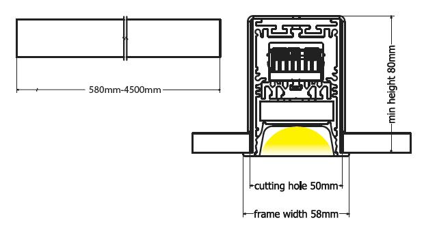 Beam recessed diagram