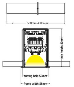 Base recessed diagram