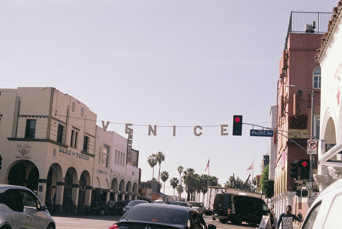 Venice beach sign, Los angels, California.