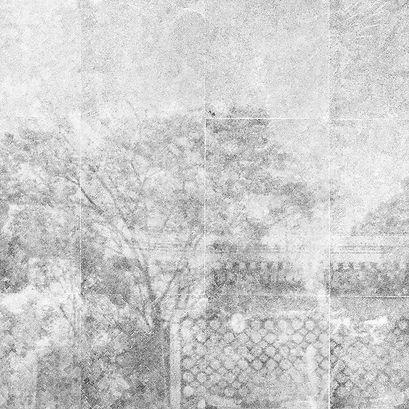 Tomioka Hachiman I (2021, transferencia de carbón sobre papel, 70x70cm)