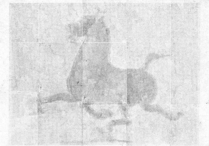 Lanzhou (2021, transferencia de carbón sobre papel, 100x70cm)