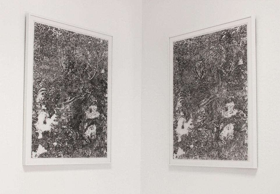 Gran-Mártir I y II (2019, tinta sobre papel vegetal 90g/m2, 2x40x30cm)