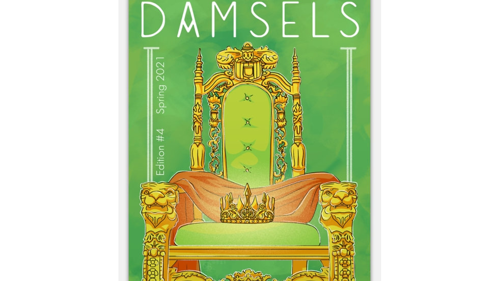 They Call Us Damsels Cover Sticker