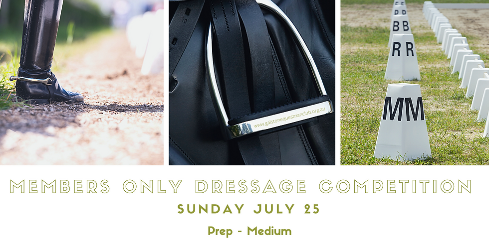 Members Only Dressage Competition