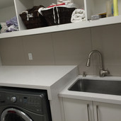 Laundry Room backsplash tile installer