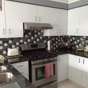 Hexagon Kitchen backsplash tile installer