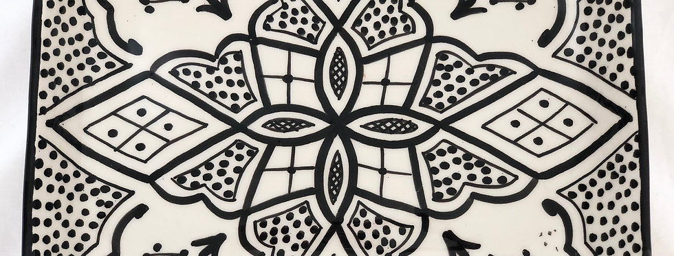 Moroccan Ceramic Serving Plate
