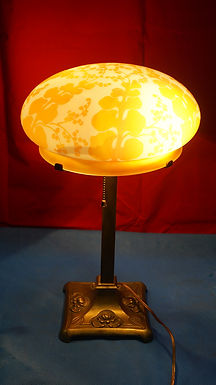 Ca 1900s Tiffany Studios Table Lamp - L C T Brass Base And M
