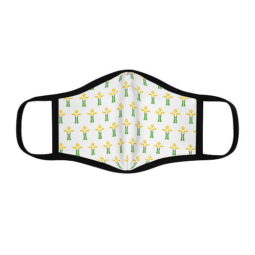 Yellow/Green Fitted Polyester Face Mask