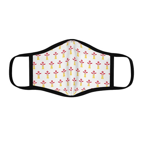 Red/Yellow Fitted Polyester Face Mask