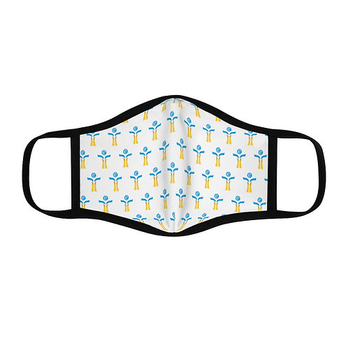 Blue/Yellow Fitted Polyester Face Mask