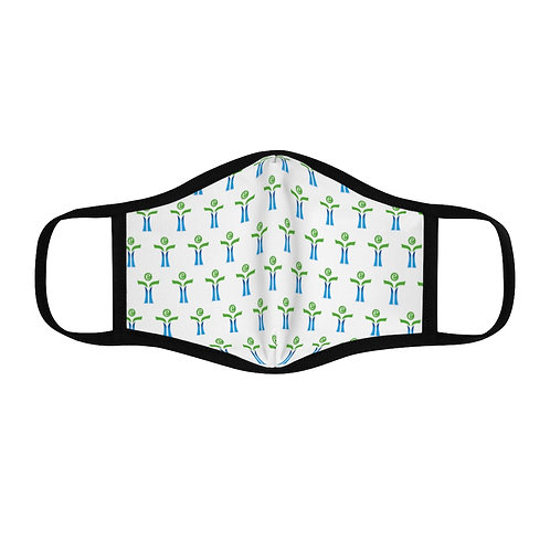 Green/Blue Fitted Polyester Face Mask
