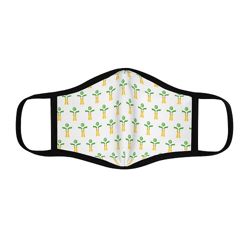 Green/Yellow Fitted Polyester Face Mask