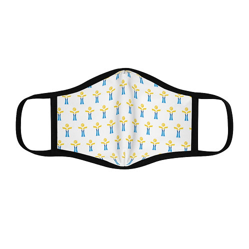 Yellow/Blue Fitted Polyester Face Mask
