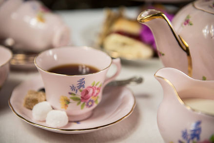 Beautiful, affordable vintage china tea set hire and delicious tea party catering. Delivering to the Midlands