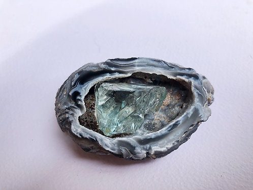 Lady Nellie Aqua Serenity Andara crystal in an Agate shell
