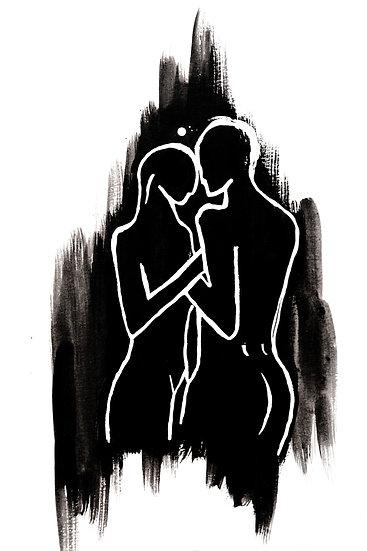 DUALITY (Black on White) - Giclée fine art print A3