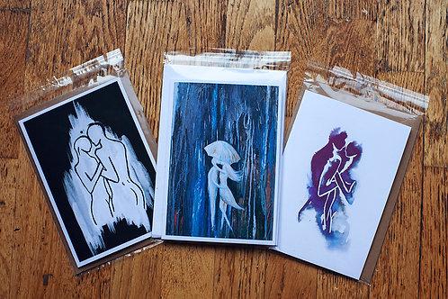 copy of Pack of 3 blank greetings - LOVERS