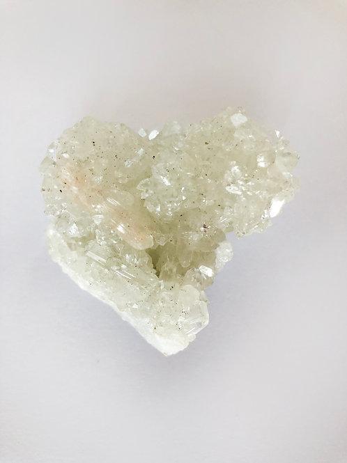 apophyllite crystal cluster - heart