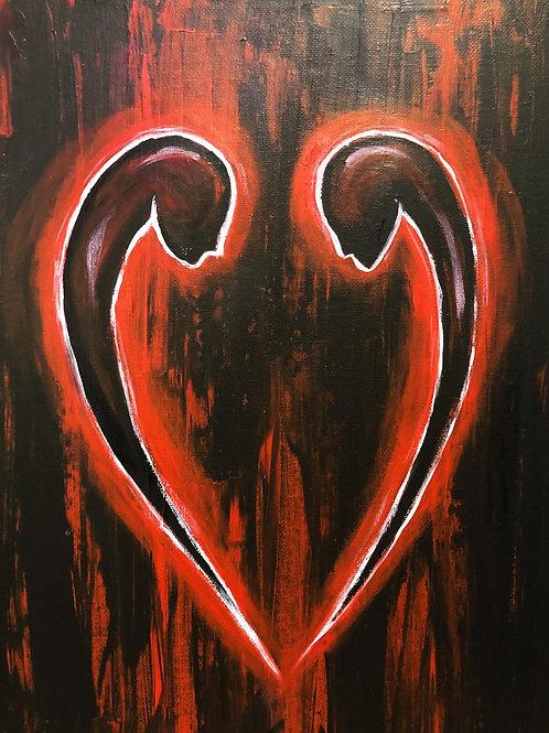 The lovers, Original art canvas A3