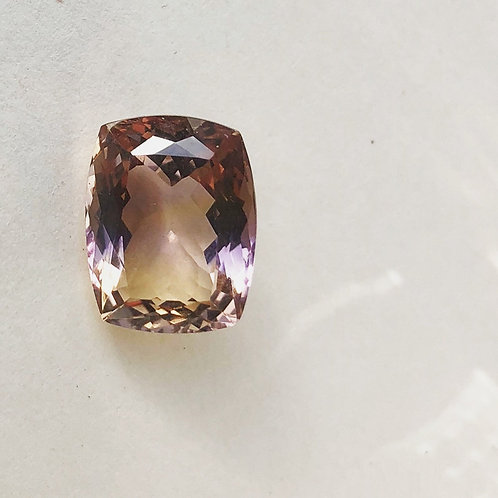 Faceted Ametrine stone