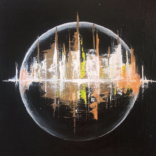 Alien cities Mini canvas