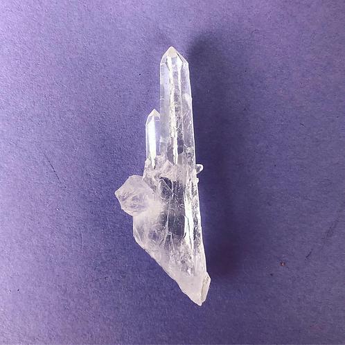 Twin flame quartz point