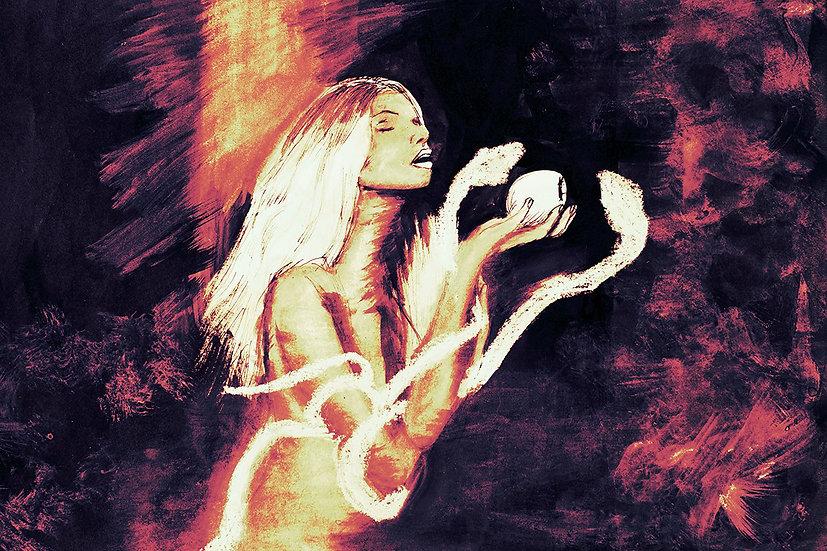 Lilith Giclée fine art print A3