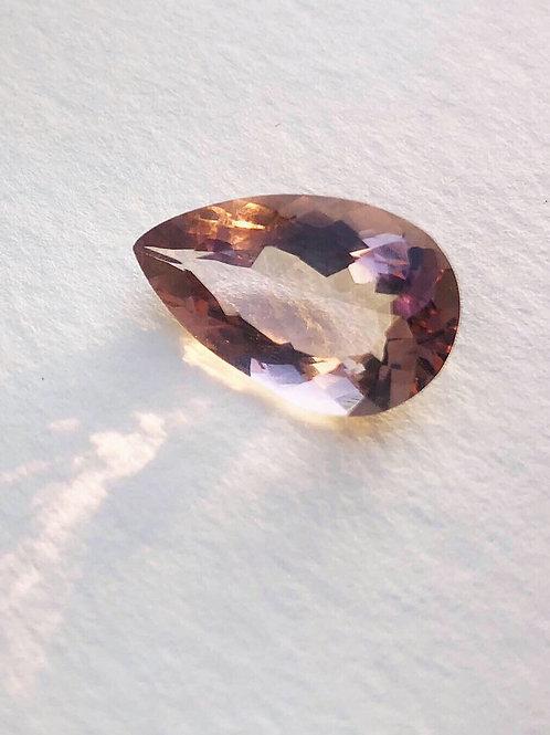 Faceted Ametrine stone (tear drop)