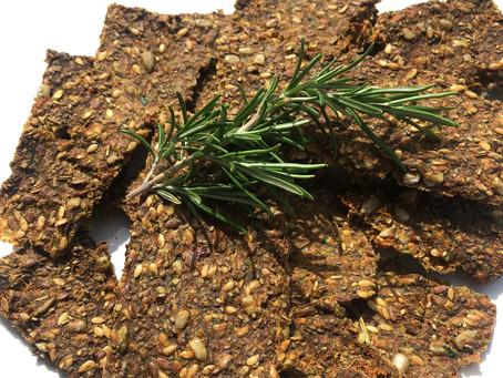 Raw Vegan Rosemary Juice Pulp Crackers