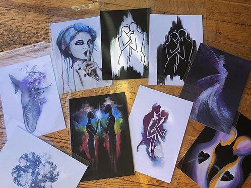 A5 signed Giclée art cards - single