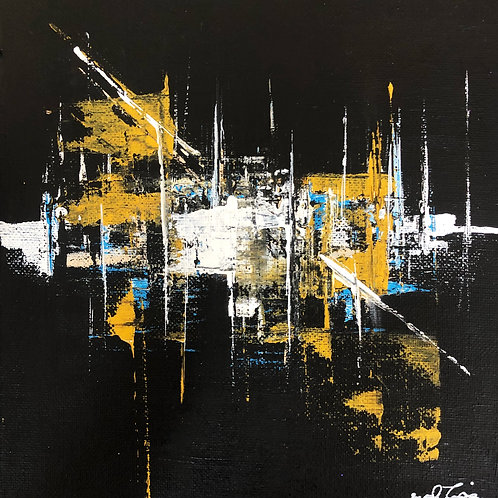 BLACK AND GOLDN Mini canvas