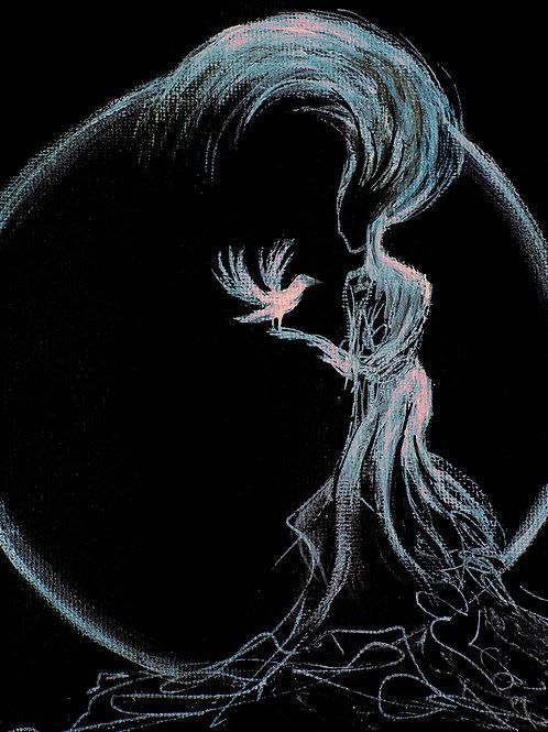 The Raven Whisperer - A5 signed giclee art card