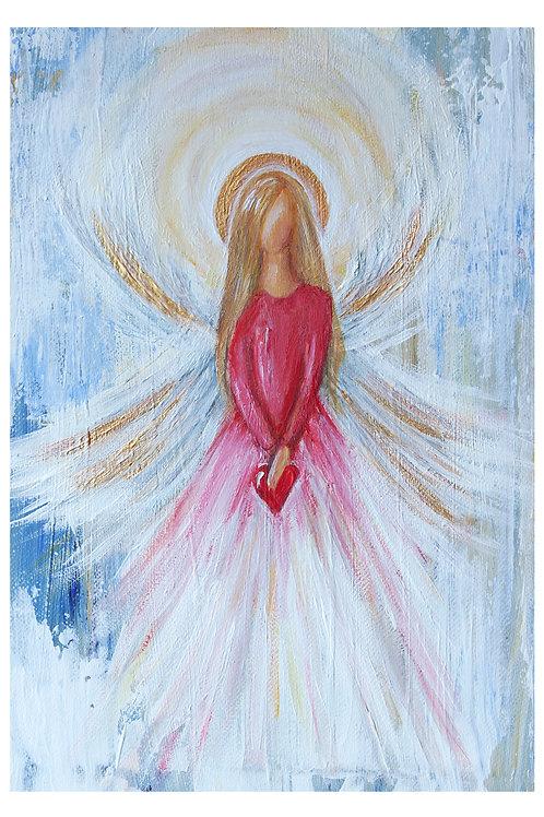 Angel III A4 canvas
