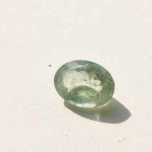 Faceted Aqua marine stone (oval)