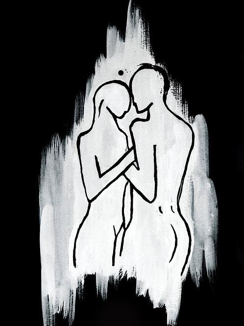 DUALITY (white on Black) - Giclée fine art cards A5