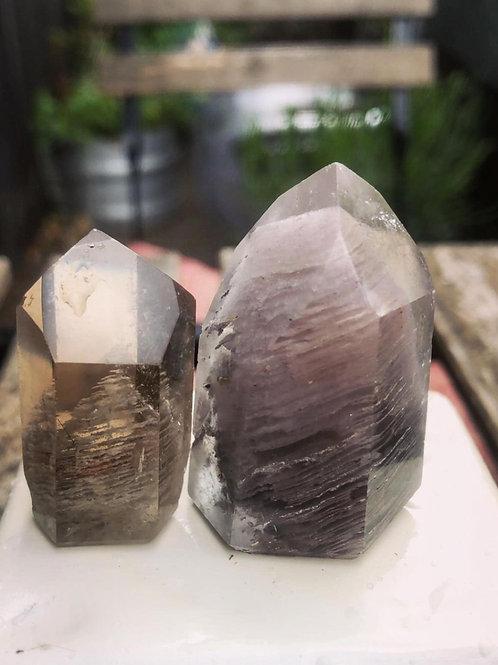 Beautiful pair of phantom crystals - sacred hearts