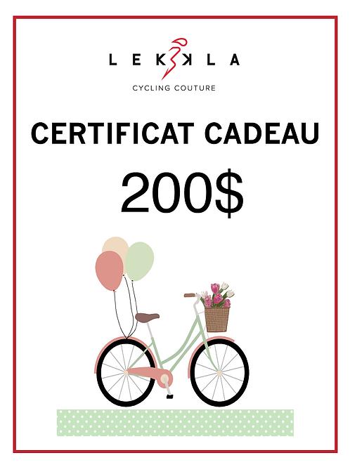 Certificat Cadeau $200