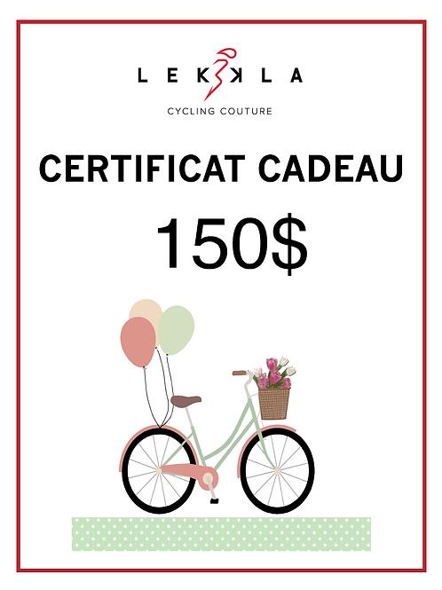 Certificat Cadeau $150