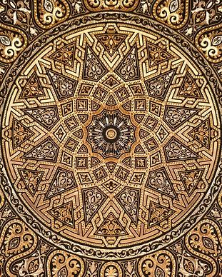 Radial Golden Arabic Ornament illustrati