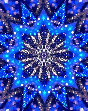 Christmas mandala-snowflake kaleidoscope