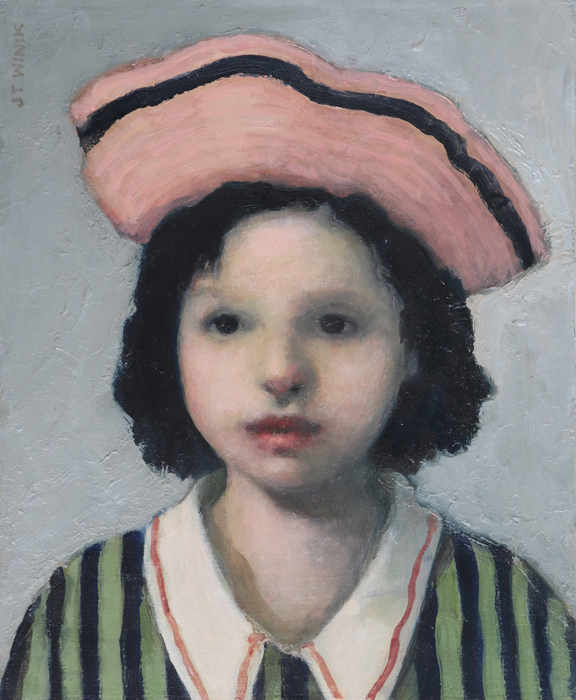 Girl in an Old Pink Hat