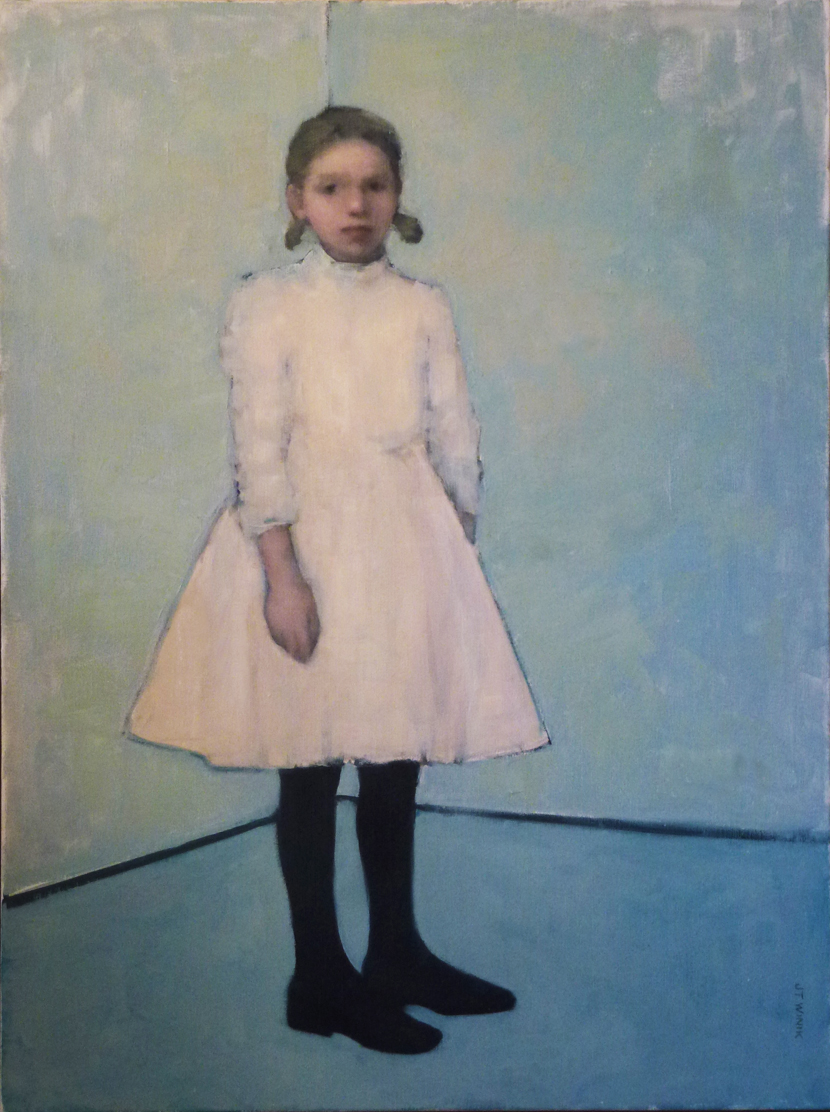 Standing Girl, Blue Room