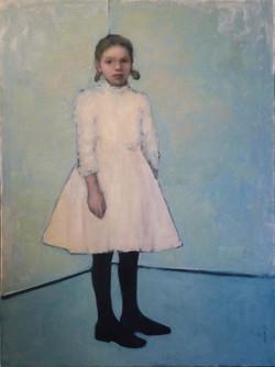 Standing Girl, Blue Room