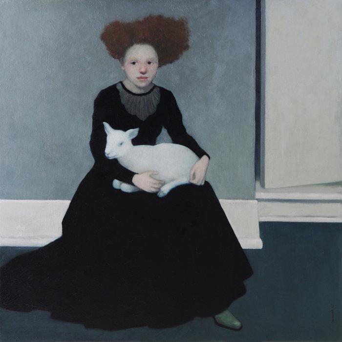 Woman with Lamb 36x36 WIX 6200 B.jpg