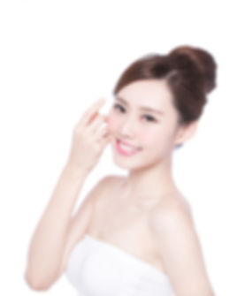 Beautiful Skin care woman Face smile to